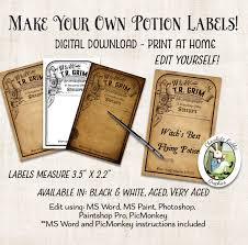 halloween apothecary jar labels editable halloween potion apothecary witch labels digital