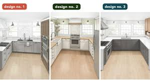 how to modernize a small kitchen one bad kitchen three designs homebuilding