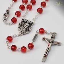 Chaplet Of The Holy Face St Pio Of Pietrelcina Silver Plated Rosary U2013 Ghirelli Rosaries
