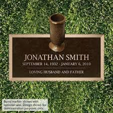 Flat Grave Markers With Vase Fish Bronze Grave Marker 4 Sizes