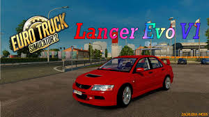 mitsubishi evo modded mitsubishi lancer evolution v1 0 for ets 2 download game mods
