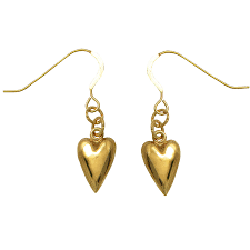 dangler earrings lecalla 22kt gold trendy heart dangler earrings by lecalla in
