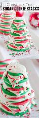 festive christmas tree sugar cookie stacks taste and tell