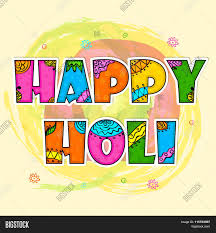 beautiful floral design decorated colourful text happy holi on