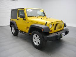 jeep rubicon yellow pre owned 2009 jeep wrangler x convertible cicero wt32107 cicero