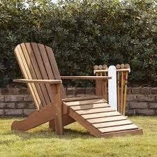 chair with built in ottoman birch lane vista adirondack chair with built in ottoman outdoor