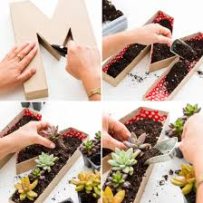 Planters Diy by Use Cardboard Letters To Make This Mother U0027s Day Planter
