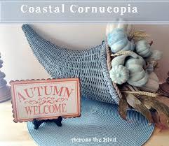 coastal cornucopia and chalk painted pumpkins hometalk