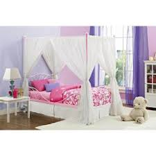 dhp canopy pink twin size bed frame 4020759 the home depot