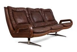 60s Sofas Retro Leather Furniture Swedish Retro Leather Sofa 1960s For Sale