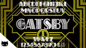 free font of the great gatsby deco pinstripe speedart