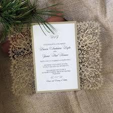 gatefold wedding invitations laser cut wedding invitation bohemian lace gatefold a9