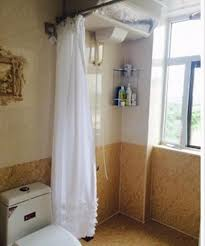 Waterproof Bathroom Window Curtain 180 180cm White Lace Shower Curtain Waterproof Mildewproof