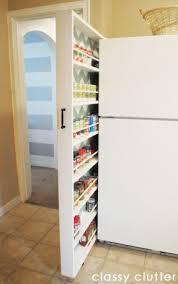 slim kitchen pantry cabinet a diy hidden kitchen cabinet packs plenty of canned good storage