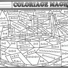 coloriage magique soustraction dessin coloriage gratuit num ratio