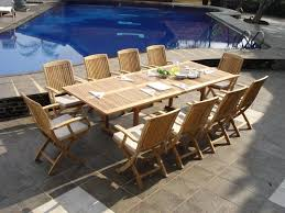 Teak Outdoor Dining Table And Chairs Dining Tables Creative Ideas Outdoor Round Dining Table