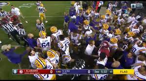 Ruffin Flags Flags Fly As Alabama And Lsu Players Push And Shove Along The