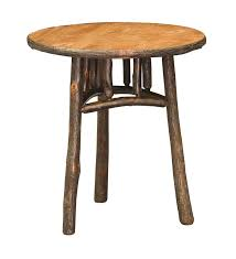 rustic end tables cheap 22 round rustic end table