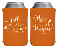 wedding koozie ideas fall in 1a custom coolers autumn wedding favors that
