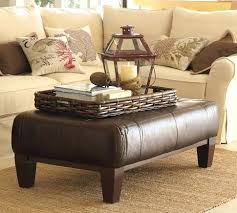 Leather Ottoman Coffee Table Rectangle Rectangular Ottoman Coffee Table Modern Wood Coffee Table