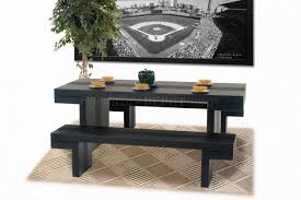 black dining table bench dark walnut moden dining table two benches 3pc set