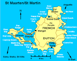 map of st martin complete st martin st maarten information