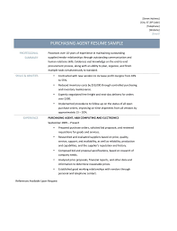 Sample Resume For Supply Chain Management by Sample Purchasing Resume Resume For Your Job Application