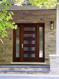 Glass Front House Doors Designs Contemporary Wooden Front Door With Glass Designs