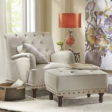 Collection In Accent Chairs With Ottoman Tufted Accent Chair And In