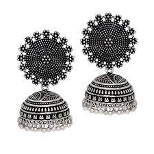 jhumki earring jaipur mart oxidised plated handmade jhumka jhumki earrings maacarts