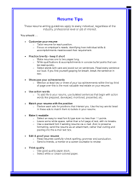 Individual Resume Tips For Resumes Resume Templates