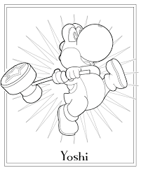 yoshis woolly coloring pages baby yoshi print mario super