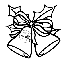 christmas jingle bells coloring pages kids printable free
