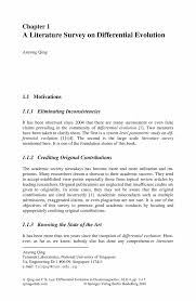 a literature survey on differential evolution springer