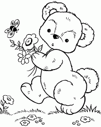 bear walking garden coloring pages teddy bear coloring