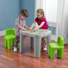 Outdoor Childrens Table And Chairs Amazon Com Step2 Mighty My Size Table And Chairs Set Toys U0026 Games