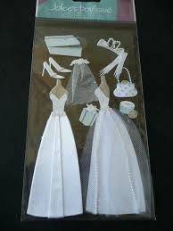 wedding scrapbook stickers scrapbooking wedding dresses