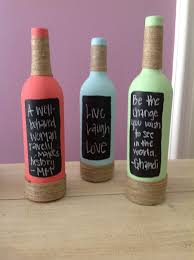 Wine Bottle Halloween Crafts by Use Old Wine Bottles Etc Paint With Glass Paint Decorate Neck