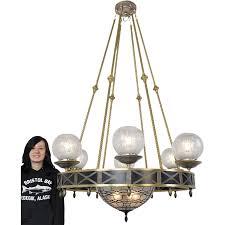 mid century modern 10 light chandelier ceiling fixture w bowl