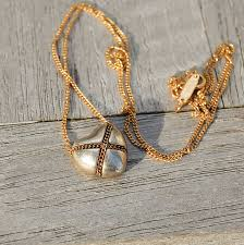 heart pendant necklace tiffany images Vintage 18k gold tiffany chain necklace with sterling heart