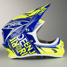 blue motocross helmets o u0027neal 3 series fuel youth motocross helmet blue hi vis quick
