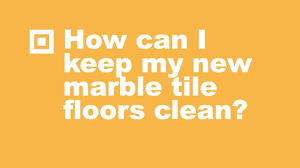 how to clean marble tile floors youtube