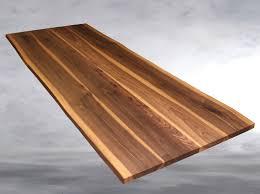 Esszimmertisch Folie Tischplatte Nussbaum Massiv Esstisch Baumkante Geölt Massivholz