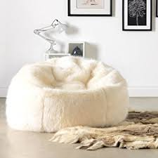Faux Fur Bean Bag Chairs Icon Extra Large Luxury Faux Fur Bean Bag Chair Giant Luxurious