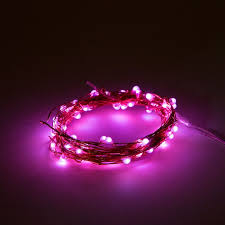 battery operated led lights waterproof with pink micro led
