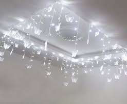 Ceiling Light Decorations 5mx1m Wedding Butterfly Led Curtain String Light Ceiling