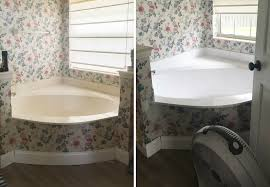 Best Way To Refinish Bathtub Bathroom Countertop Refinishing A Budget Friendly Bathroom Update