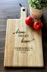 large personalised engraved oak handled wooden board house
