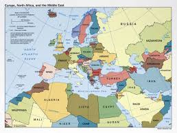 A Map Of The Middle East by Large Political Map Of Europe North Africa And The Middle East
