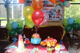 Birthday Decoration Ideas At Home by Manju U0027s Eating Delights A Rainbow Birthday Party Manav Turns 1